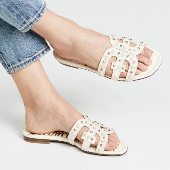 5860088e65fe NWOT Sam Edelman Bay 2 pearl slide sandals. M_5cc0b833afade82a61a125dd
